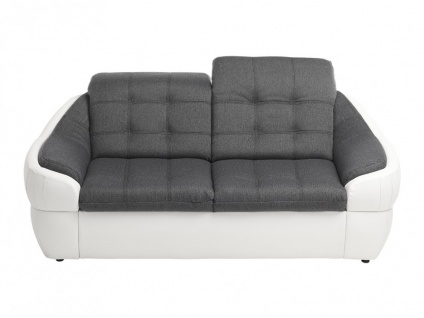 Sofa 2-Sitzer Stoff Farez - Weiß&Grau - Vorschau 5