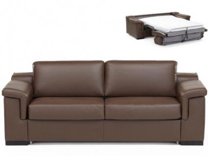 Ledersofa Schlafsofa mit Matratze 3-Sitzer Hippias II - Luxusleder - Braun