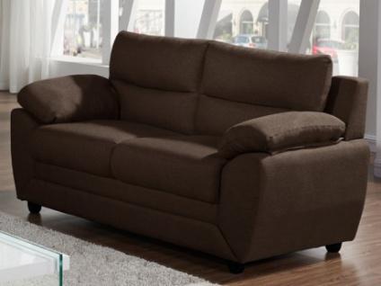 Sofa 2-Sitzer Stoff MANOA - Braun