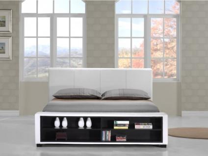 Polsterbett mit Stauraum Avalon - 160x200cm - Weiß - Vorschau 4