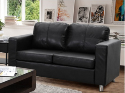 Sofa 2-Sitzer Ackley - Schwarz