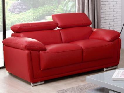 Ledersofa 2-Sitzer Miska - Rot