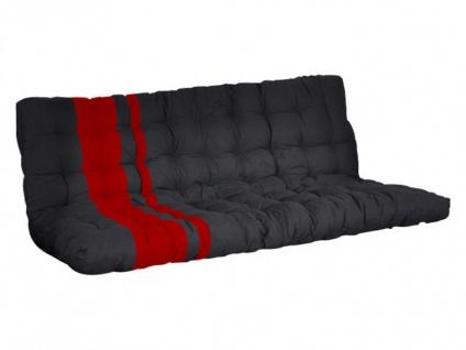 Futonmatratze MODULO für Klappsofa-Betten - 135x190cm - Rot/Schwarz