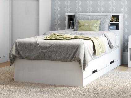Set Bett mit Bettkasten BORIS + Lattenrost + Matratze - 90x190cm - Vorschau 3