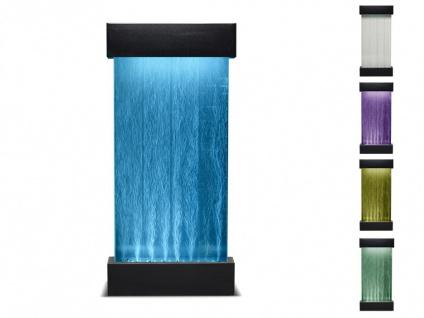 Sprudelnder Säulenbrunnen mit farbwechselnder LED-Beleuchtung CECILY - Höhe: 122 cm