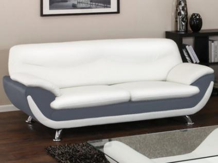 3-Sitzer-Sofa Indiz - Grau & Weiß