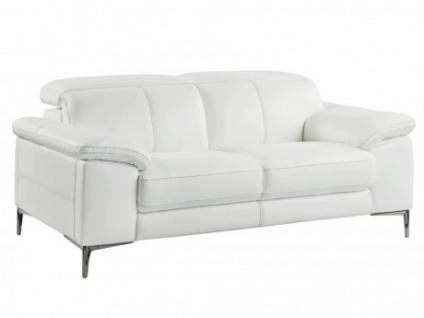 Relaxsofa 2-Sitzer Leder YORO - Weiß