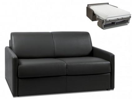 Schlafsofa 2-Sitzer CALIFE - Schwarz - Liegefläche: 120 cm - Matratzenhöhe: 22cm