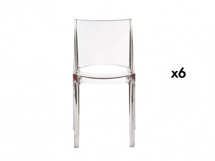 Stuhl 6er-Set Helly - Transparent