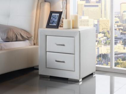 Nachttisch Capitole - 2 Schubladen - Weiß