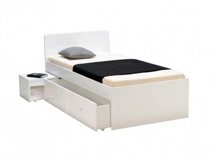 Bett mit Bettkasten PACOM - 90x190cm - Weiß - Vorschau 3