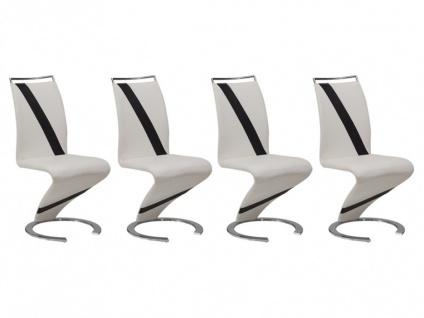 Stuhl Freischwinger 4er-Set Twizy - Limited Edition - Weiß - Vorschau 3