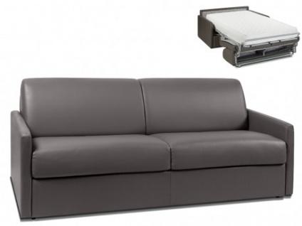 Schlafsofa 4-Sitzer CALIFE - Grau - Liegefläche: 160 cm - Matratzenhöhe: 22cm
