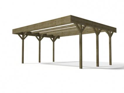 Doppelcarport DAVOS - Holz autoklaviert Klasse III - 30, 6 m²