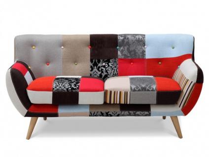 2-Sitzer-Sofa Stoff Serti - Patchwork Rot