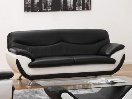 3-Sitzer-Sofa Indiz - Schwarz & Weiß
