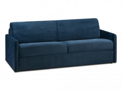 Schlafsofa 4-Sitzer Samt CALIFE - Dunkelblau - Liegefläche: 160 cm - Matratzenhöhe: 18cm