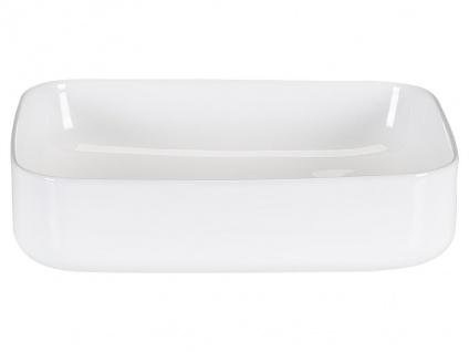 Waschbecken rechteckig JUNIKO - Weiß - Vorschau 4