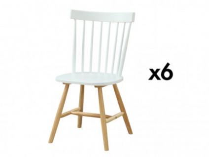 Stuhl 6er-Set skandinavisch Holz ELVINE