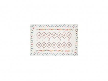 Teppich Berber-Stil JAVA - 160 x 230 cm - Beige & Mehrfarbig