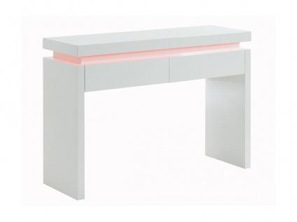 Wandkonsole mit LED-Beleuchtung EMERSON - Holz (MDF) - Weiß