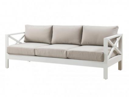 Gartensofa 3-Sitzer mit Couchtisch Aluminium SERAM