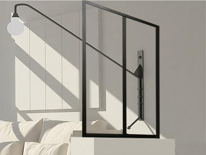Atelier Glaswand Aluminium BAYVIEW - 60x105 cm - Schwarz