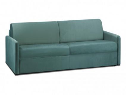 Schlafsofa 4-Sitzer Samt CALIFE - Minzgrün - Liegefläche: 160 cm - Matratzenhöhe: 14cm
