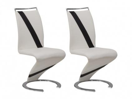Stuhl Freischwinger 2er-Set Twizy - Limited Edition - Weiß
