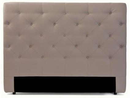 Kopfteil Bett gepolstert Enza - Breite: 162 cm - Taupe