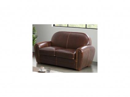 Ledersofa Vintage 2-Sitzer BAUDOIN - Braun - Vorschau 2