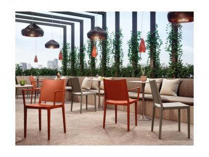Stuhl mit Armlehnen 2er-Set TOXA - Stapelbar - Polypropylen - Orange