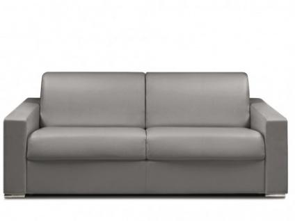 Schlafsofa 4-Sitzer CALITO - Grau - Liegefläche: 160 cm - Matratzenhöhe: 22cm