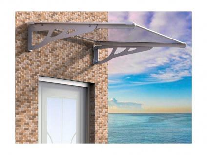 Vordach KEPLER - 120x90x22 cm - Aluminium - Silberfarben