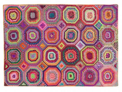 Teppich handgewebt recycelte Materialien TAPAY - 160x230cm