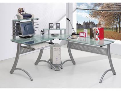 Computertisch Schreibtisch Glas Imperator