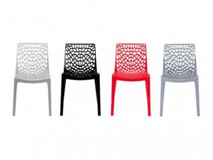 Stuhl 2er-Sets Diadem - Kunststoff - Anthrazit