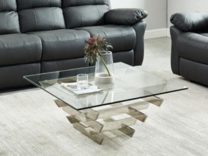 Couchtisch Design Glas & Metall CASTELLANA - Vorschau 1