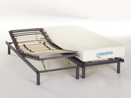 Matratzen verstellbarer Lattenrost 2er-Set Ubud - 2x 80x200cm