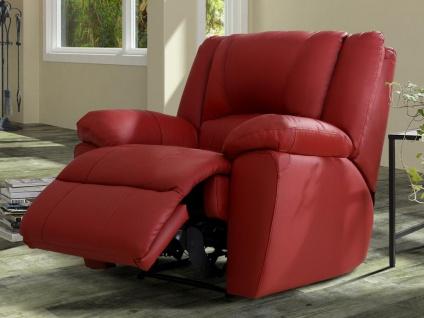 Relaxsessel Fernsehsessel AROMA - Leder - Rot