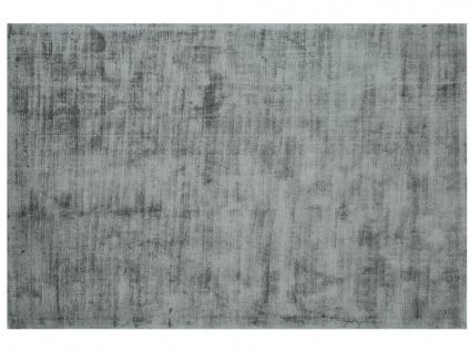 Teppich LOUVAIN - 100% Viskose - 200x290 cm - Silbergrau