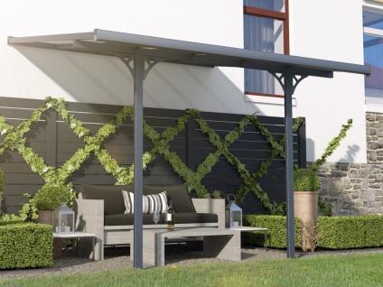 Terrassendach anlehnend ALVARO - Aluminium - 9, 5 m²