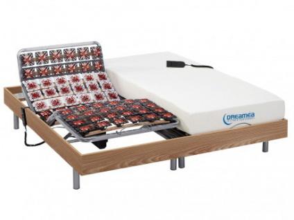 Matratzen elektrischer Lattenrost 2er-Set mit Okin-Motor Hesiode III - Eichenholz - 2x90x200