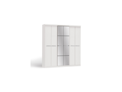 Kleiderschrank Wilhem - 6 Türen - Weiß - Vorschau 2