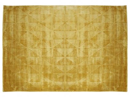 Teppich ANVERS - 100% Viskose - 160x230 cm - Senfgelb