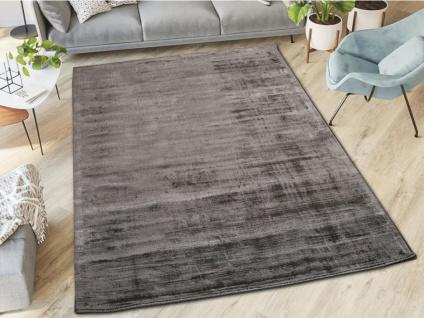 Teppich LOUVAIN - 100% Viskose - 160x230 cm - Anthrazit - Vorschau 5