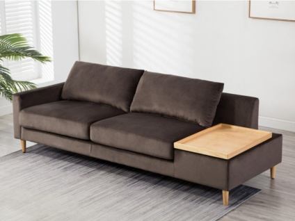 3-Sitzer-Sofa Samt mit Beistelltisch MAPUTO