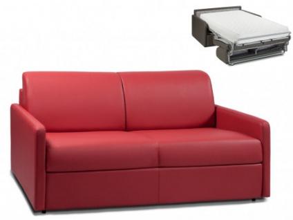 Schlafsofa 3-Sitzer CALIFE - Rot - Liegefläche: 140 cm - Matratzenhöhe: 22cm