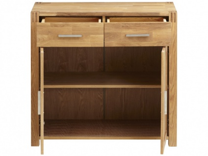 Sideboard Holz BROCELANDE II - Eiche geölt - 2 Türen & 2 Schubladen - Vorschau 4