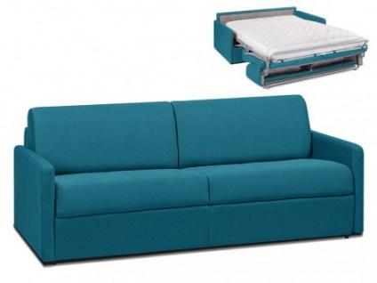 Schlafsofa 4-Sitzer Stoff CALIFE - Türkis - Liegefläche: 160 cm - Matratzenhöhe: 14cm